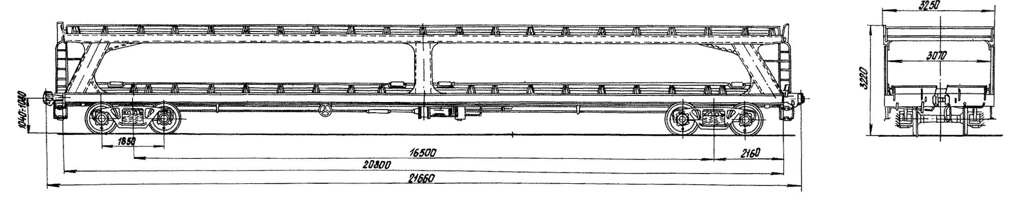 4-осная двухярусная платформа для легковых автомобилей