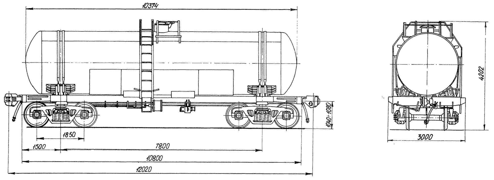 4-осная цистерна для патоки