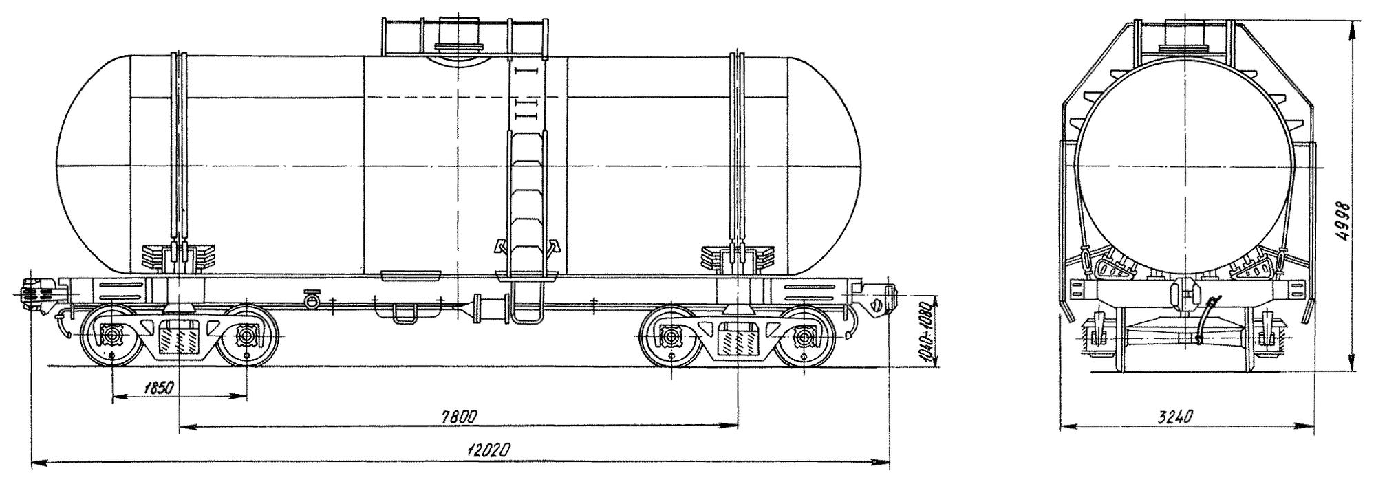 4-осная цистерна для аммиака