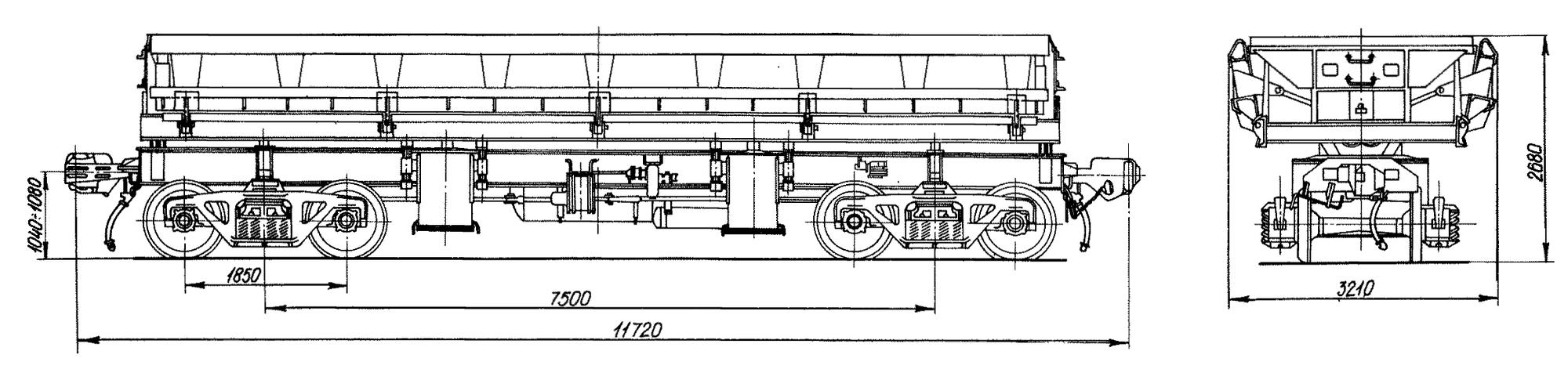 4-осный вагон-самосвал 5ВС-60