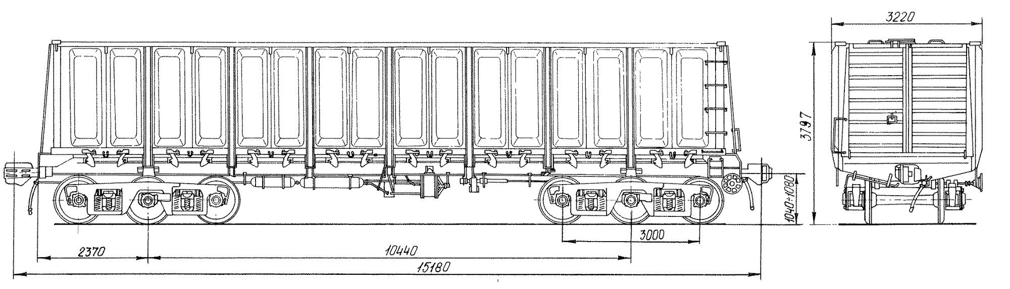 6-осный цельнометаллический полувагон