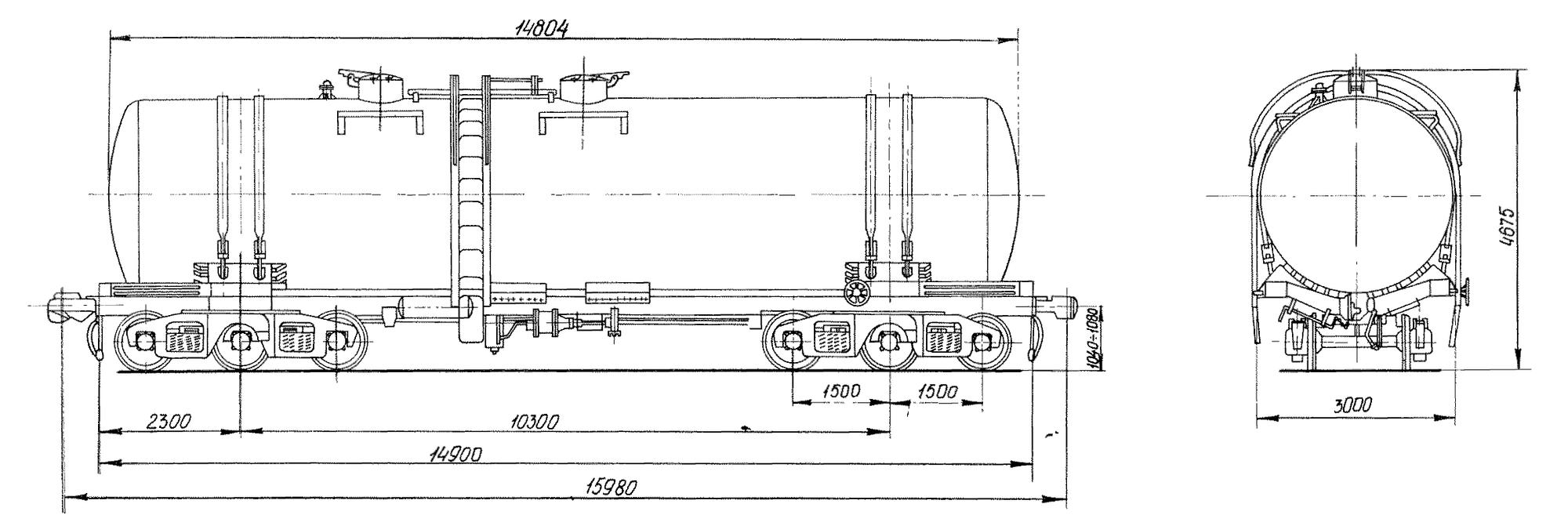 6-осная цистерна для нефти и бензина