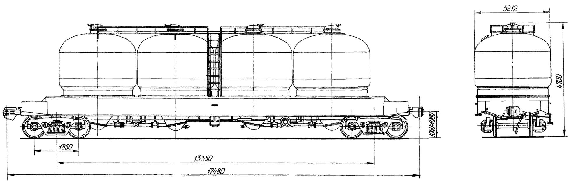 4-осный вагон для муки