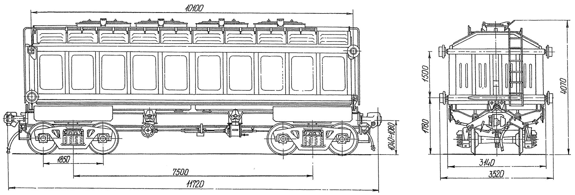 4-осный вагон с поднимающимся кузовом для аппатита