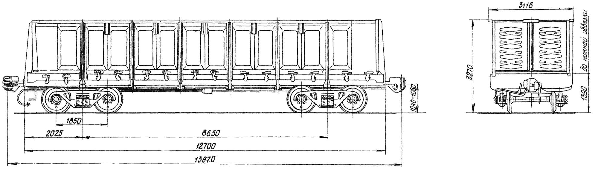 4-осный цельнометаллический полувагон