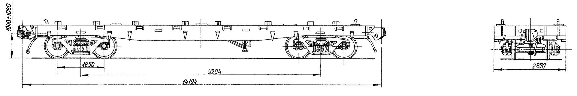 4-осная платформа для большегрузных контейнеров