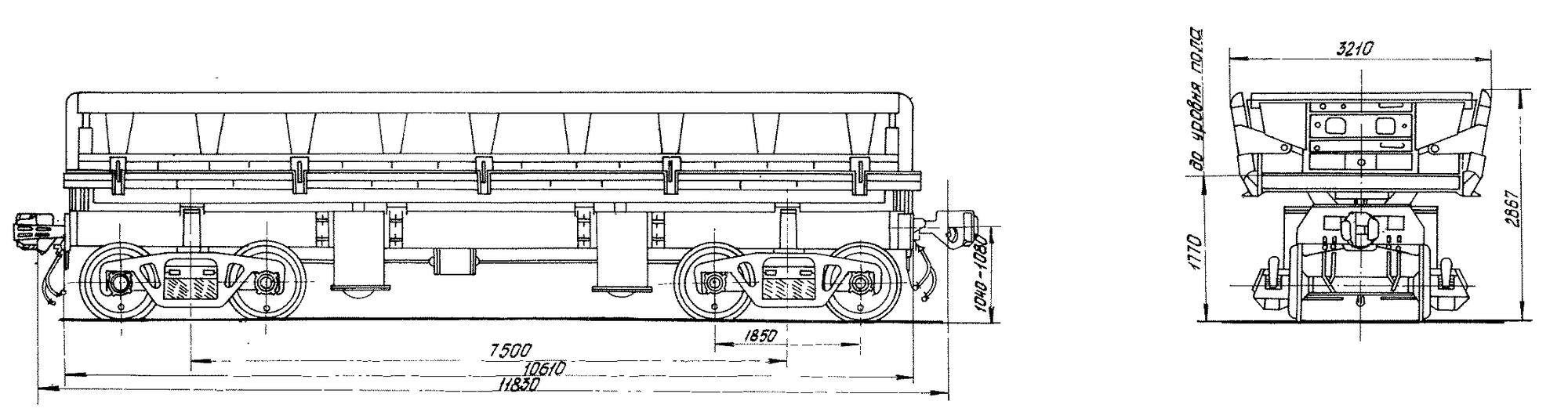 4-осный вагон-самосвал