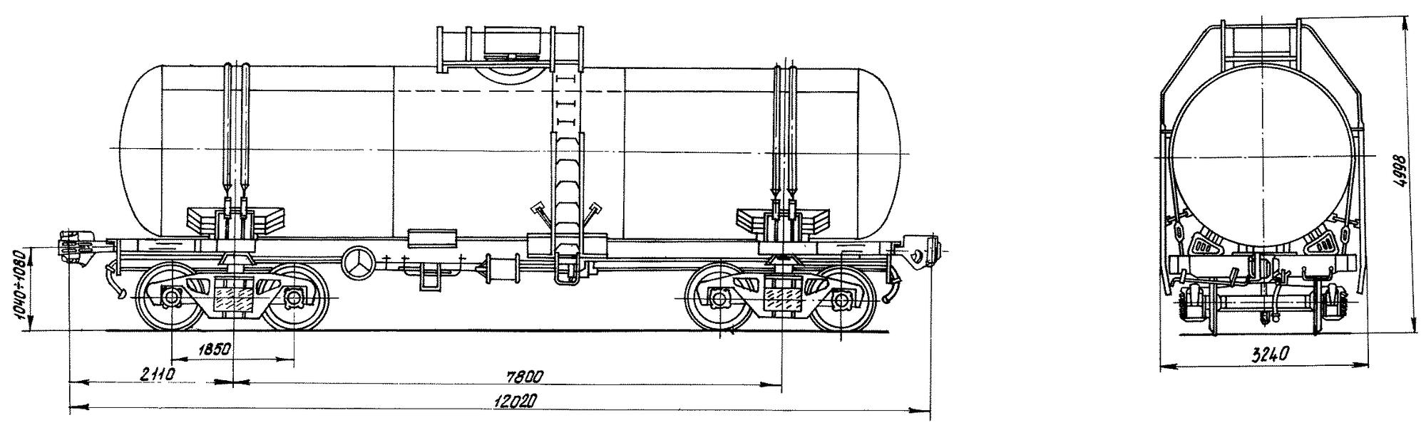 4-осная цистерна для битума