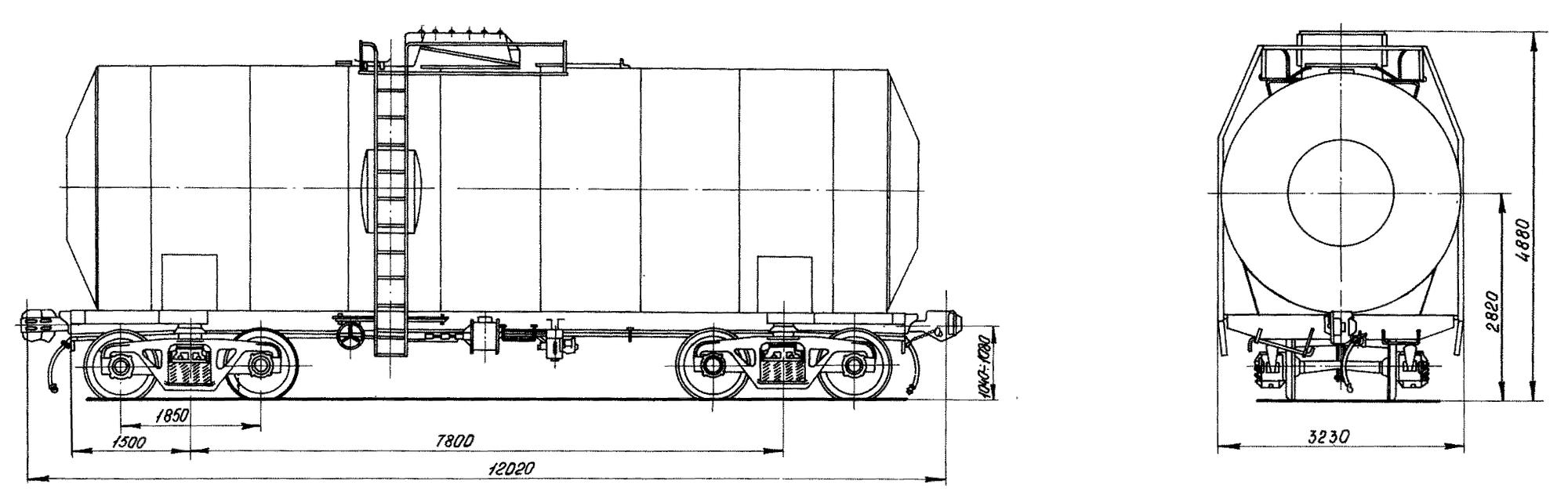 4-осная цистерна для бензола