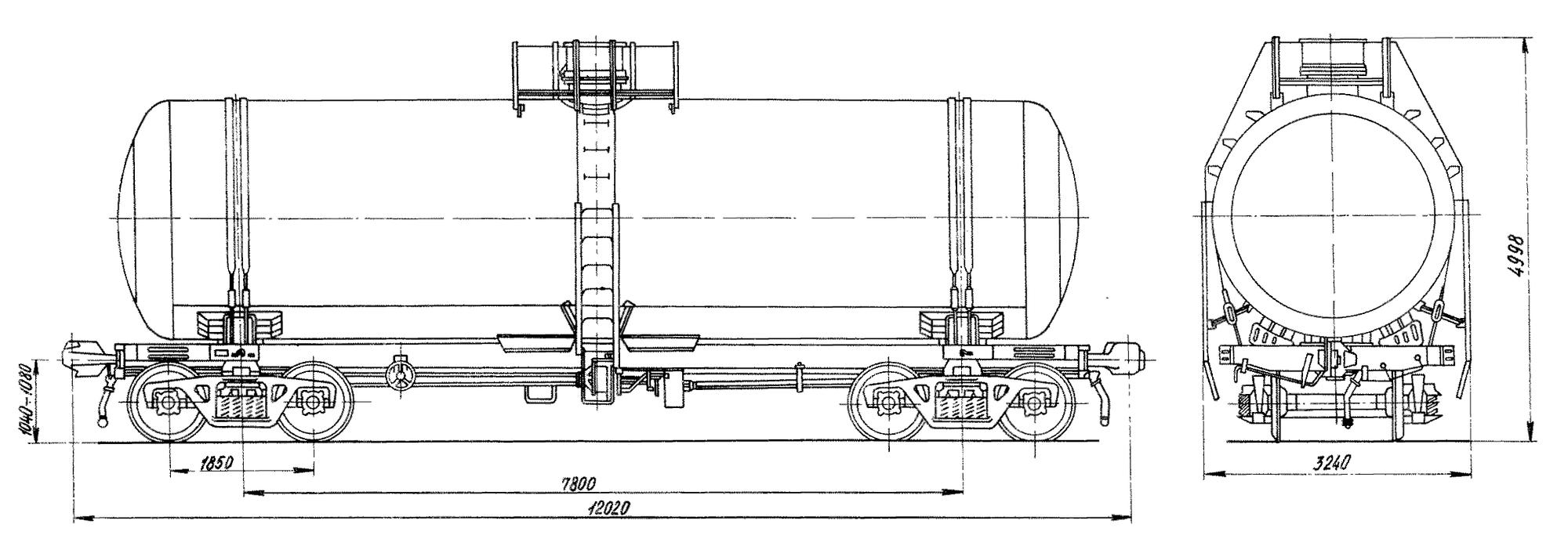 4-осная цистерна для сжиженных углеводородных газов