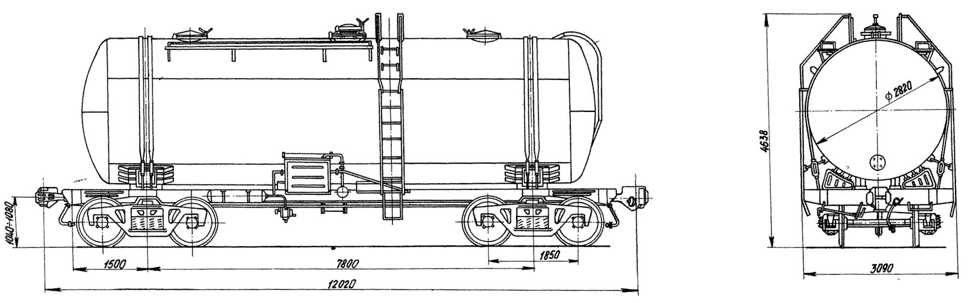 4-осная цистерна для цемента