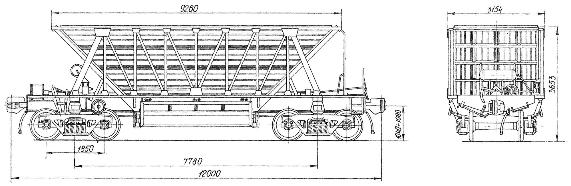 4-осный вагон для окатышей