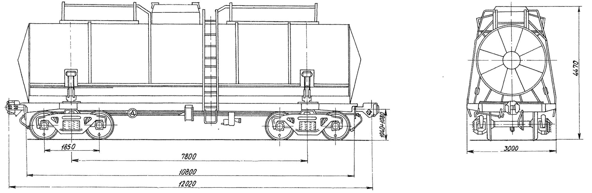 4-осная цистерна для серы