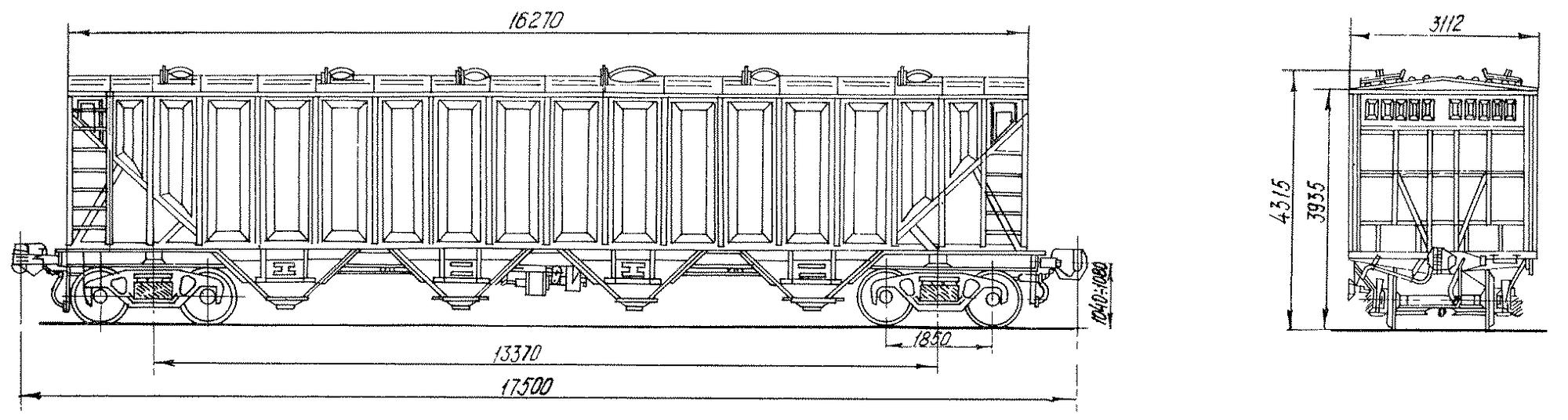 4-осный вагон-хоппер для гранулированной сажи