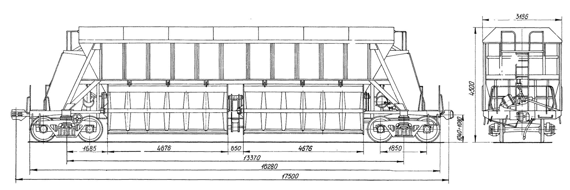 4-осный вагон-хоппер для торфа